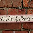 Personalised Handmade Christmas Sign
