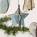 Vintage Map Christmas Decorations