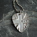 Personalised Silver Union Jack Plectrum