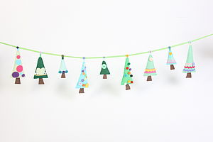 Sew Your Own Christmas Tree Garland - creative & baking gifts