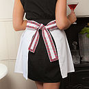 Cotton Drill Ladies Frill Apron