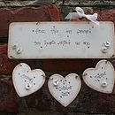 Personalised Handmade Wedding Plaque Keepsake