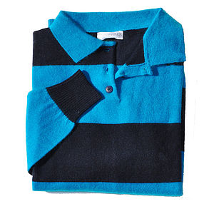 Men's Pure Cashmere Rugby Shirt - Rugby World cup