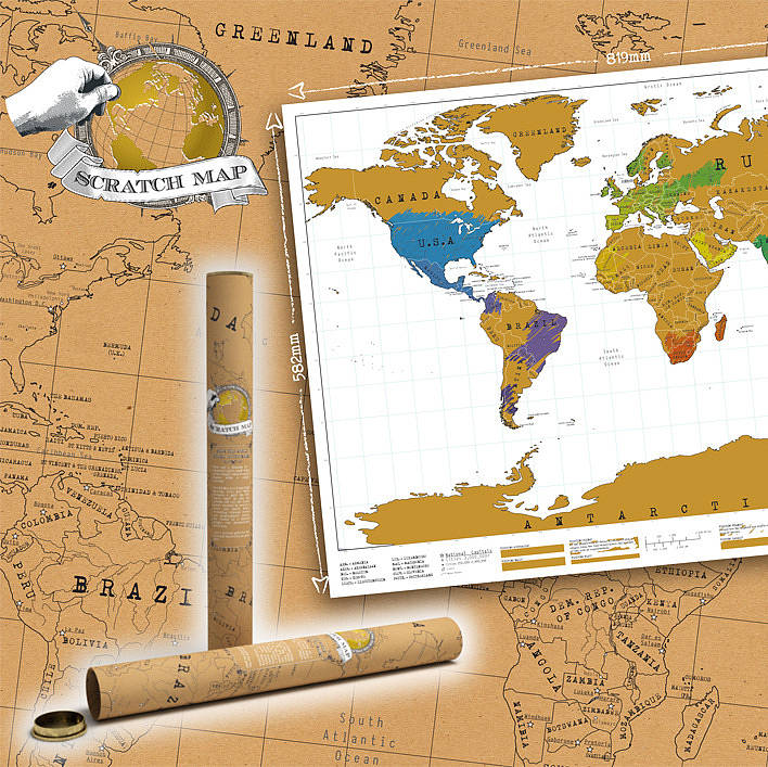 World scratch map by the little house shop notonthehighstreet world scratch map gumiabroncs Image collections