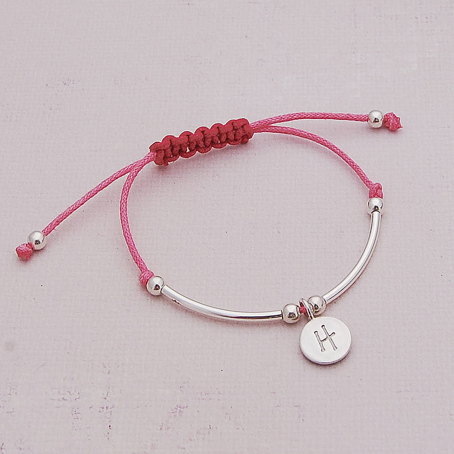 girls silver personalised friendship bracelet by indivijewels ...