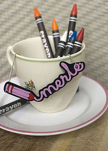 Personalised Writing Necklace - children's jewellery