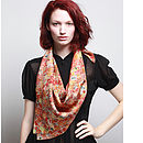 Par Avion Silk Scarf - Square - Orange