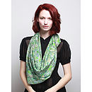 Par Avion Silk Scarf - Square - Green