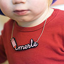 Personalised Writing Necklace