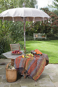 Indian Stone Garden Sun Umbrella: - parasols & windbreaks