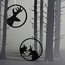Shadow Jewellery - Pendant - Deer and Rabbits - set