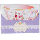Garden Chic Teacup Shaped 12 Invitation Cards