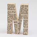 Personalised Dictionary Letters