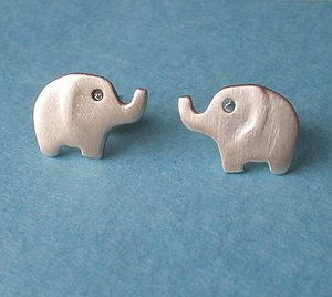 Elephant Stud Earrings - earrings