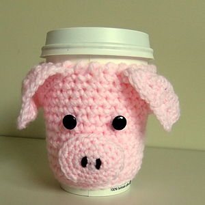 Podgy Pig Cup Holder - tea & coffee cosies