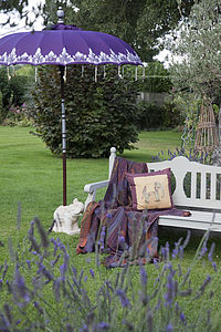 Indian Garden Umbrella: Juniper Silver - parasols & windbreaks