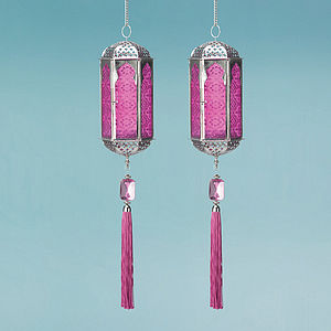 Indian Lanterns - Sold In Pairs - lights & lanterns