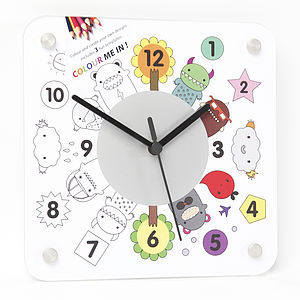 Nino Interchangeable Colour And Create Clock