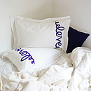 Thumb love pillowcase pair purple