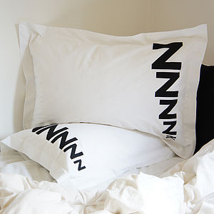 Pair Of Zzzzz Pillowcases - bedding & accessories