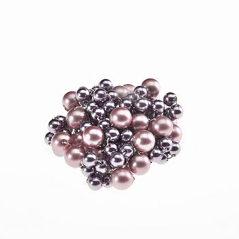 Pearl Brooch - Dusky Pink and Mauve