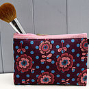 Vintage Cotton Cosmetic Bag