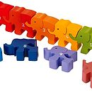 Wooden Counting Elephants Puzzle