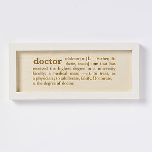 Profession Definition Artwork Sign Print - mixed media & collage
