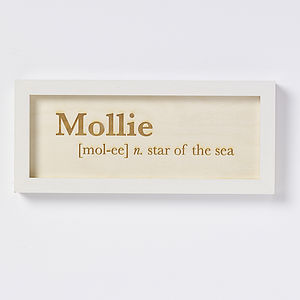 Personalised Girls Name Meaning Artwork - shop by price