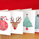 Full set of cards in multicoloured