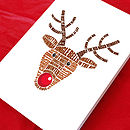 Reindeer card in multicoloured