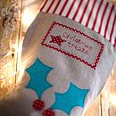 Personalised Christmas Treats Stocking