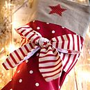 Personalised Candy Stripe Bow Stocking