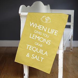 'When Life Gives You Lemons' Tea Towel - kitchen accessories