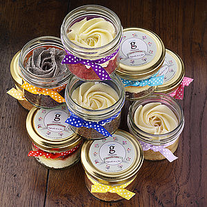 Four Cupcakes In Jars - cakes & treats