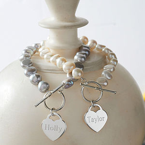 Personalised Heart Charm Bracelet - jewellery