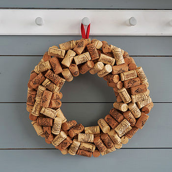 Christmas Cork Wreath, Only Three Left