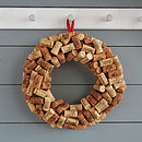 Christmas Wine Cork Wreath