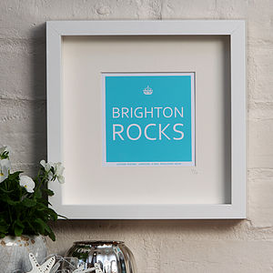 Personalised Place Name Framed Print - gifts for couples