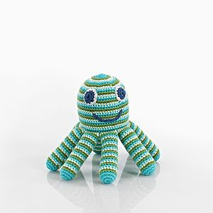 Crochet Octopus Rattle Soft Toy - gifts for babies