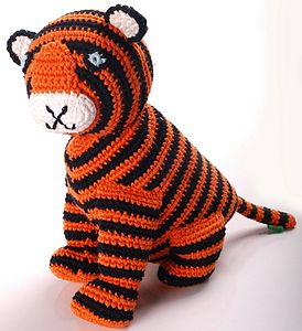 Crochet Tiger Soft Toy - toys & games
