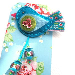 Flower Birdie Pin - corsages
