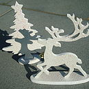 Tabletop Christmas Tree & Reindeer
