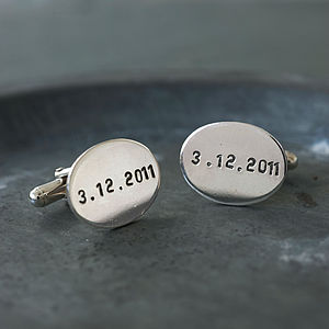 Personalised Oval Cufflinks - for your other half