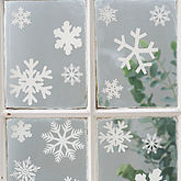 Set Of 20 Snowflake Vinyl Stickers - home