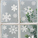 Set Of 20 Festive Snowflake Window And Wall Stickers