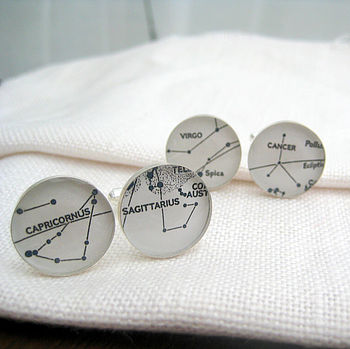 Personalised Constellations Circle Cufflinks By EVY Designs Ltd