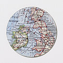 Bespoke Map Circle Trio