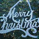 Merry Christmas Hanging Sign