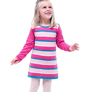 Stripeylicious Dress In Cashmere/Merino